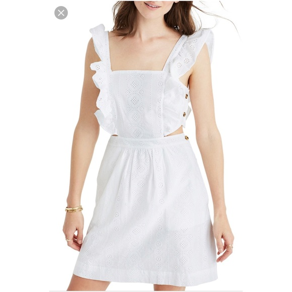 Madewell Dresses & Skirts - Madewell Leilani Eyelet Apron Dress size 10